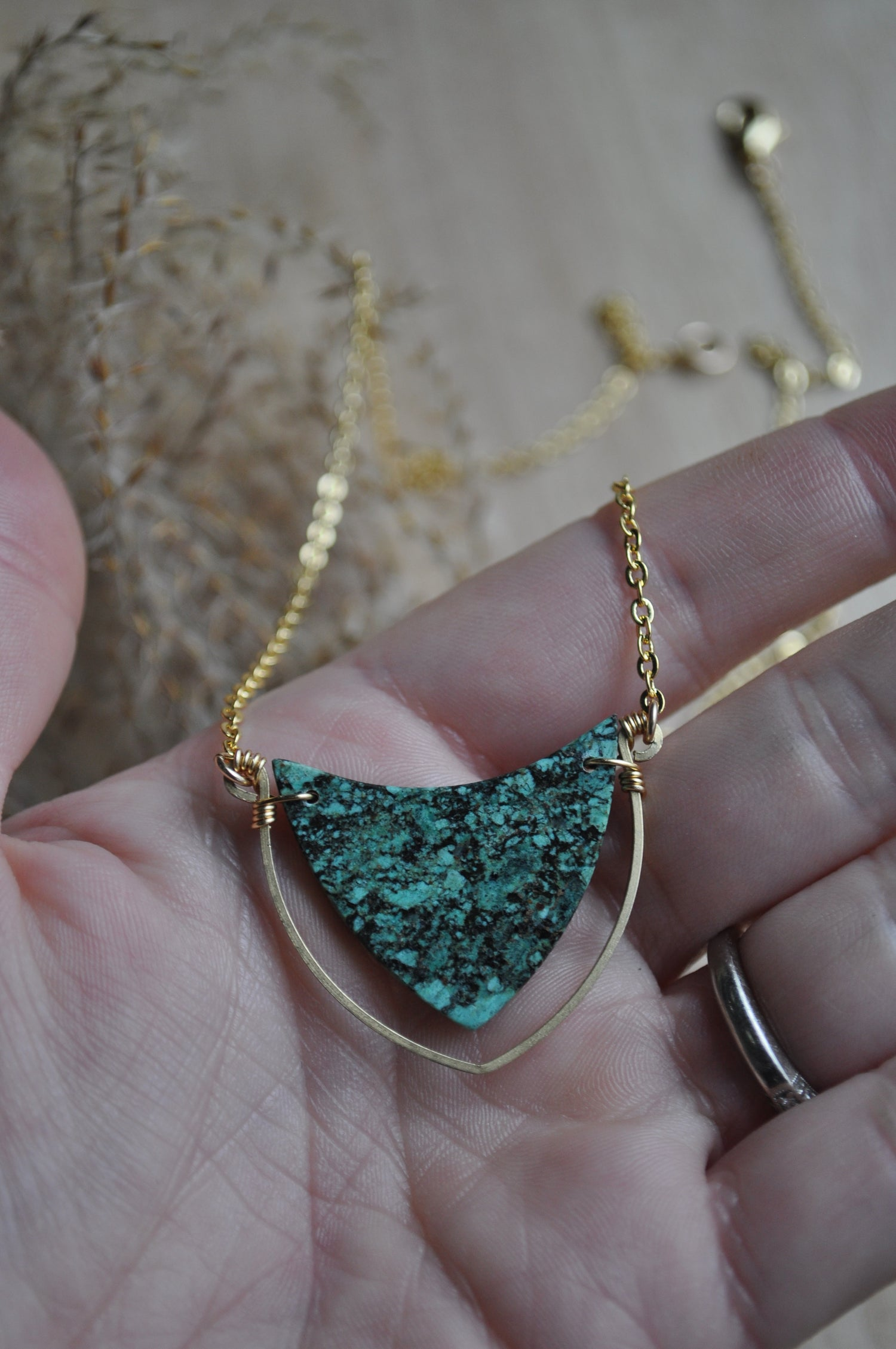 Image of One of a Kind African Turquoise Necklace