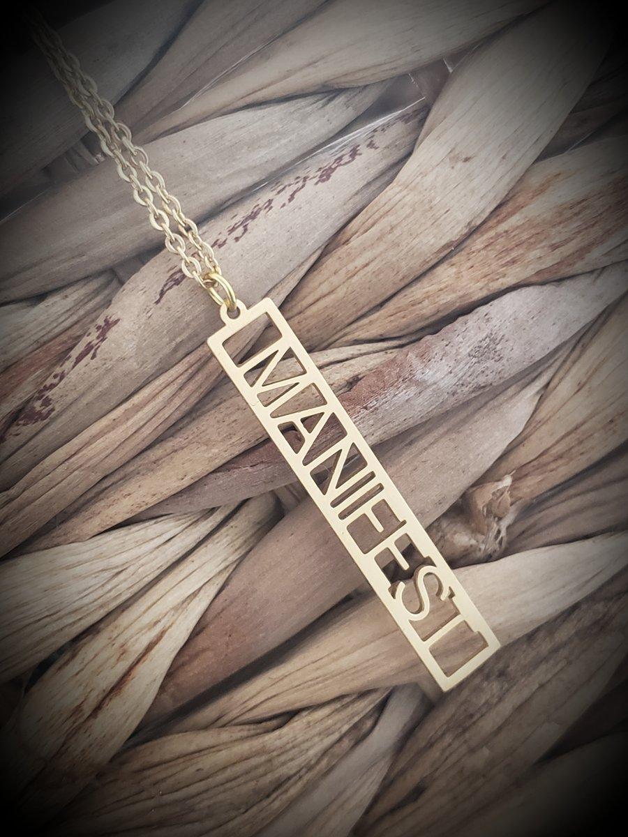 Image of Manifest Affirmation Necklace