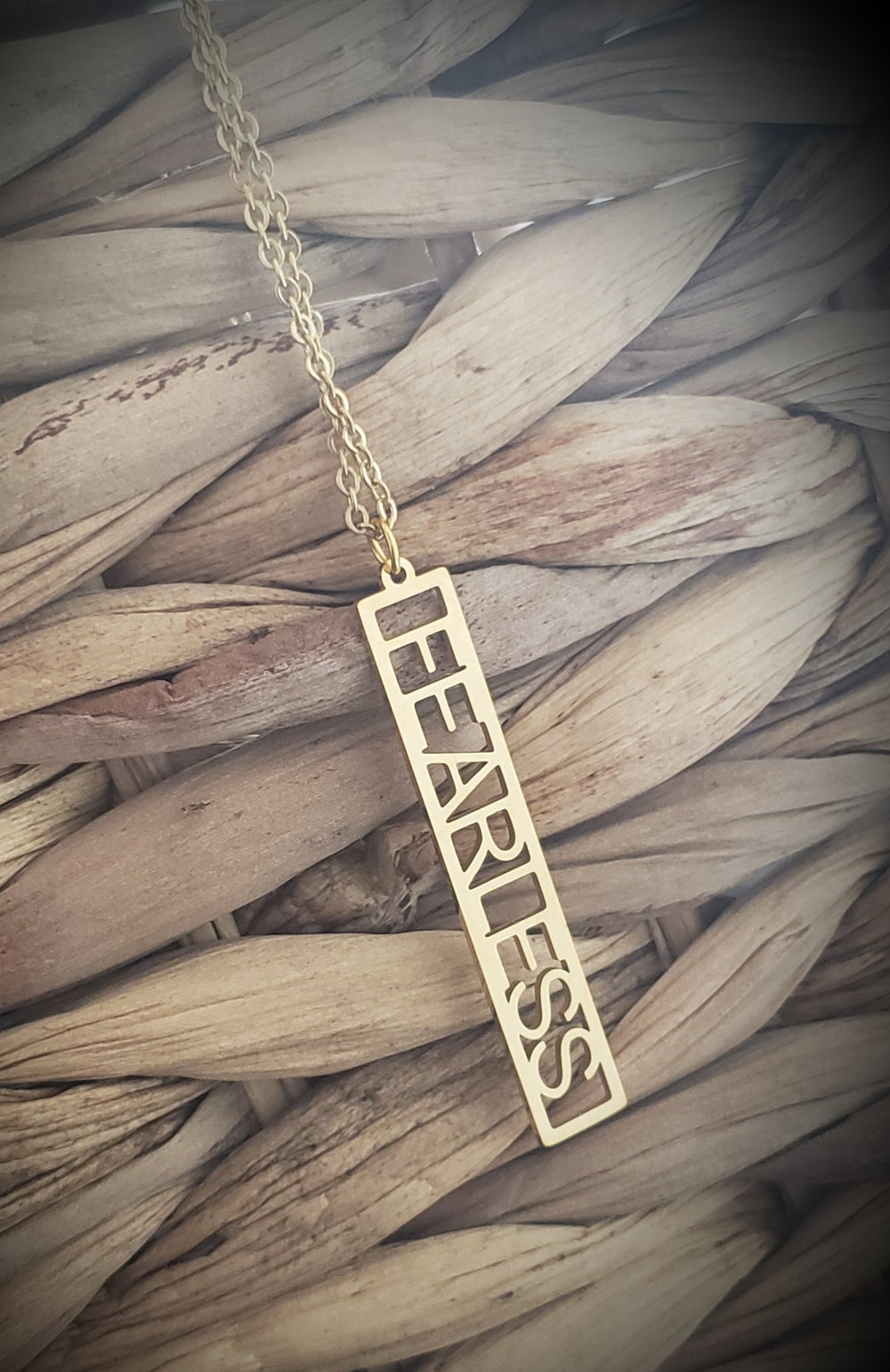 Image of Fearless Affirmation Necklace