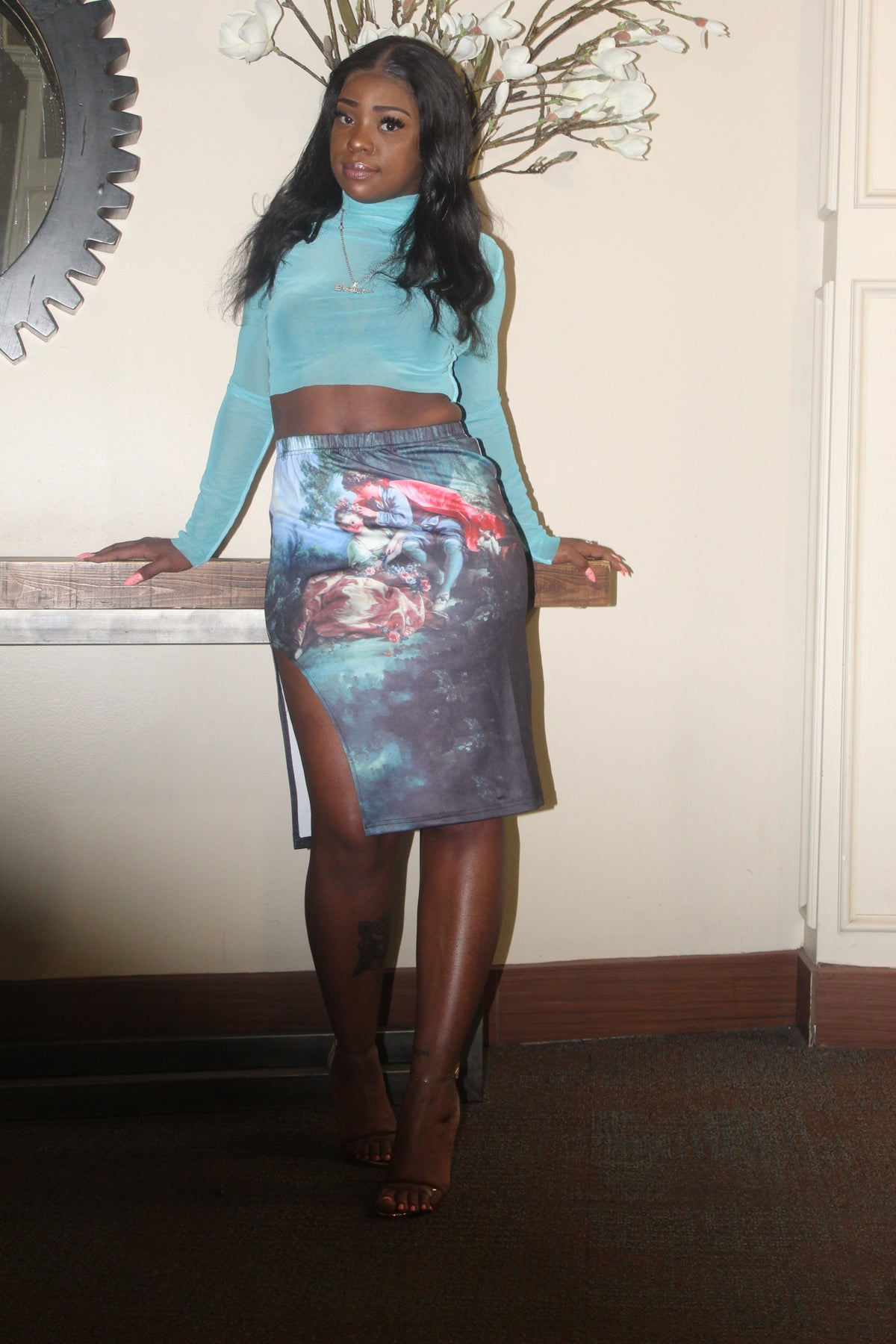 Image of Hail Mary Skirt with side split