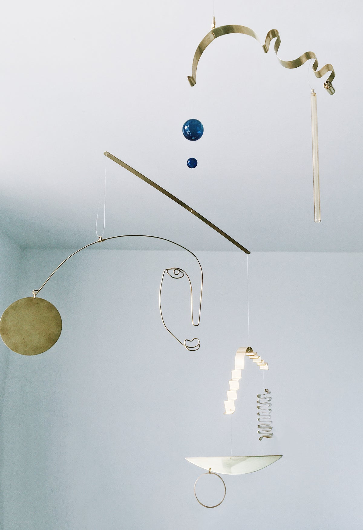 Image of Brass and Glass Kinetic Sculpture 012