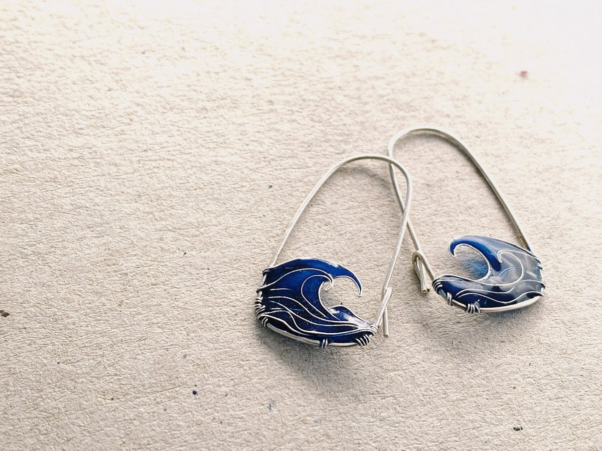 Image of Blue Sea Earrings