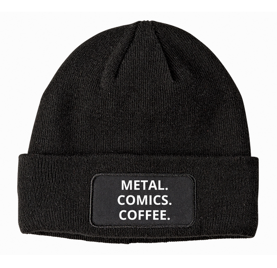 Image of METAL COMICS COFFEE BEANIE