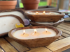 Petite Carved Bowl Scented Hand Poured Candle  (Natural Wood)