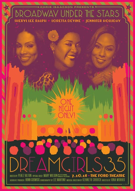 "Image of SIGNED - Limited Edition ""DREAMGIRLS 35TH ANNIVERSARY"" Concert Poster 