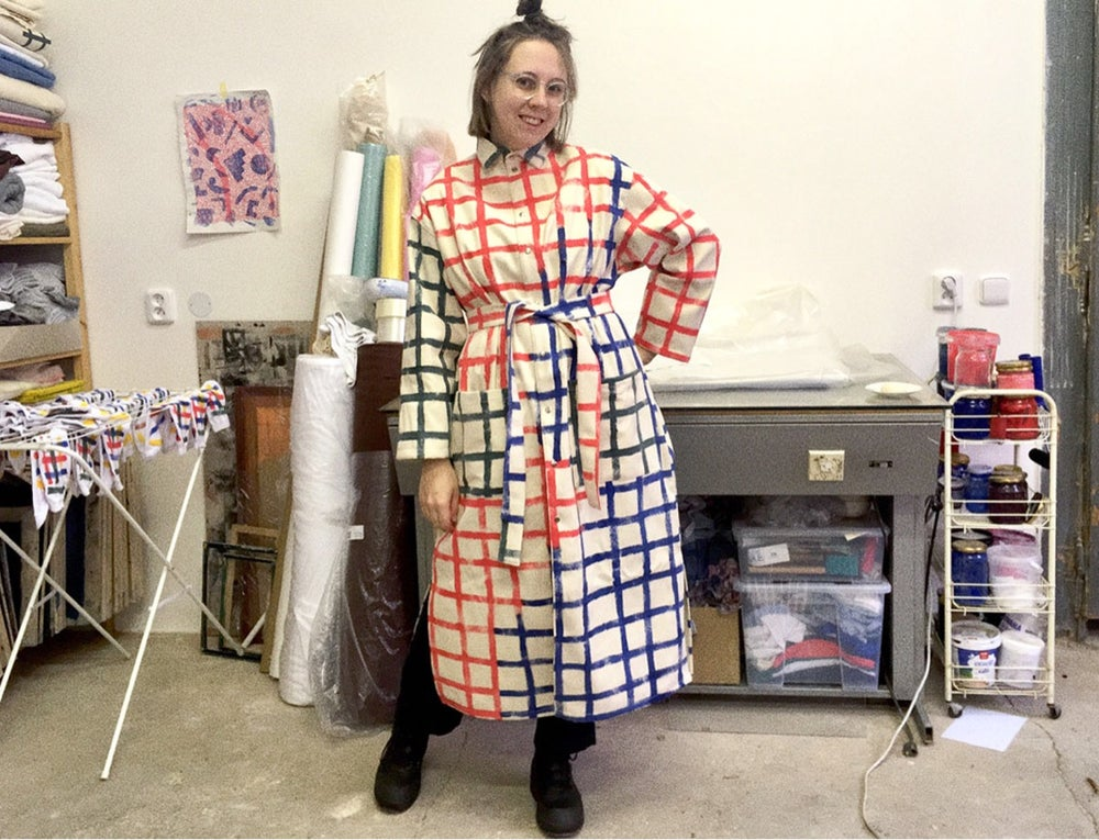 Image of GRID LONG COAT