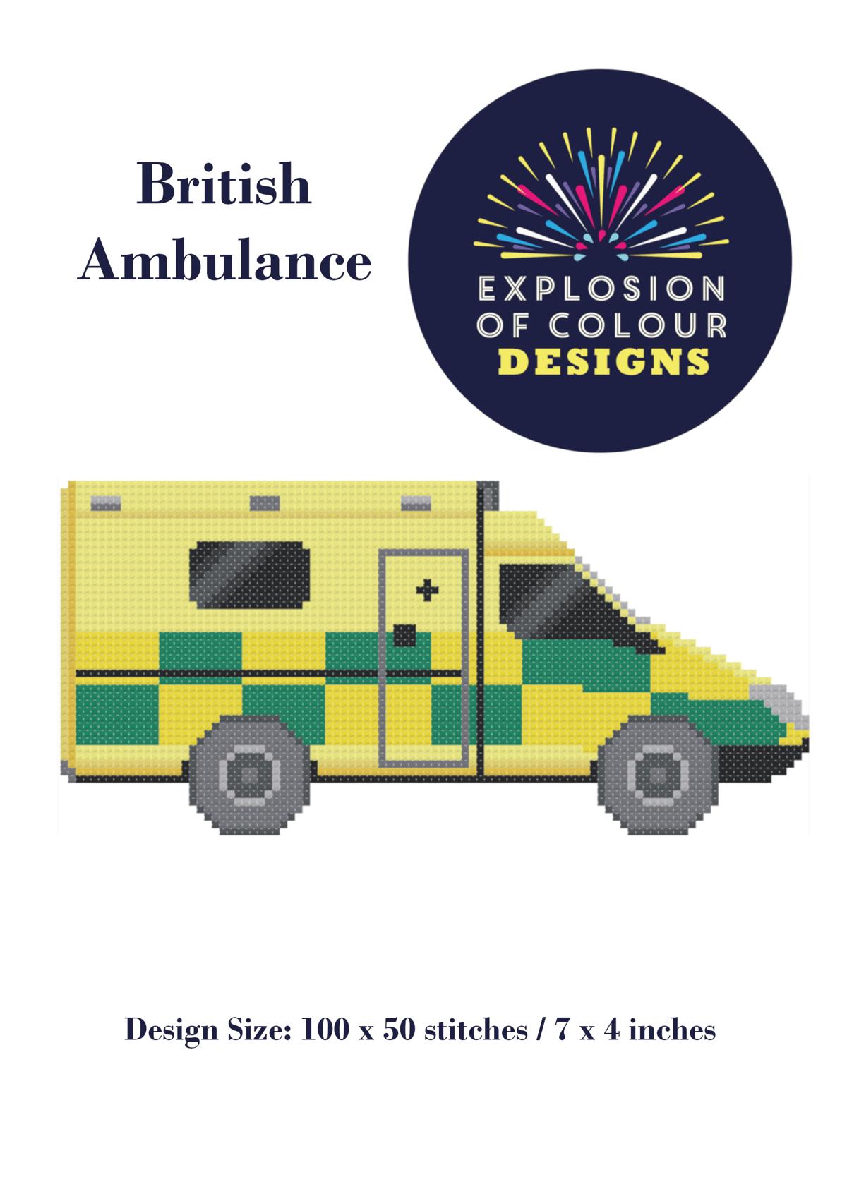 Image of British Ambulance Digital Pattern