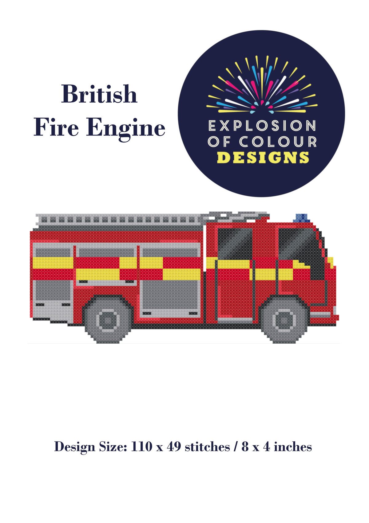 Image of British Fire Engine Digital Pattern