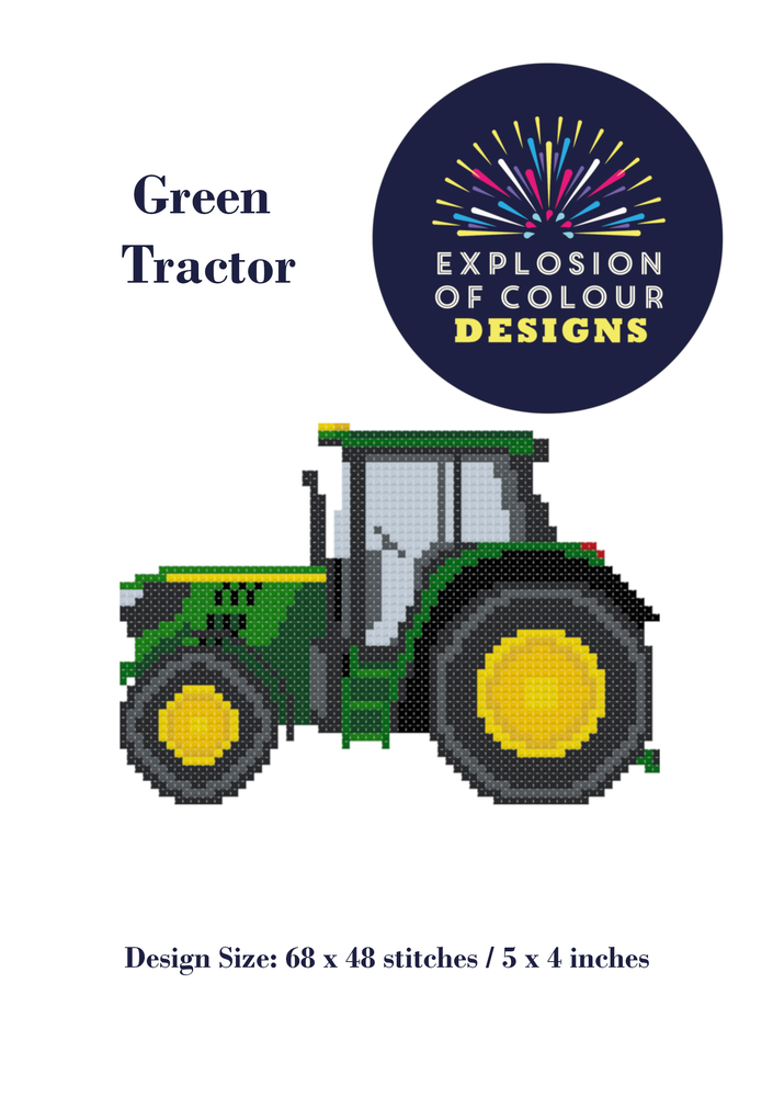 Image of Green Tractor Digital Pattern