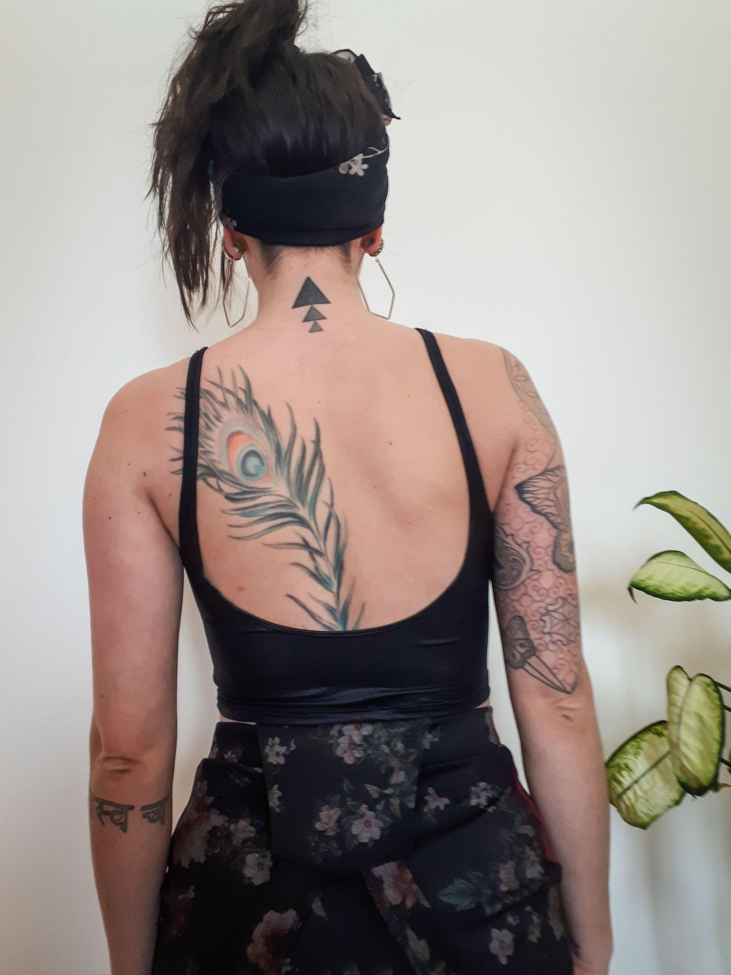 Image of Velvet Low Back Crop Tank