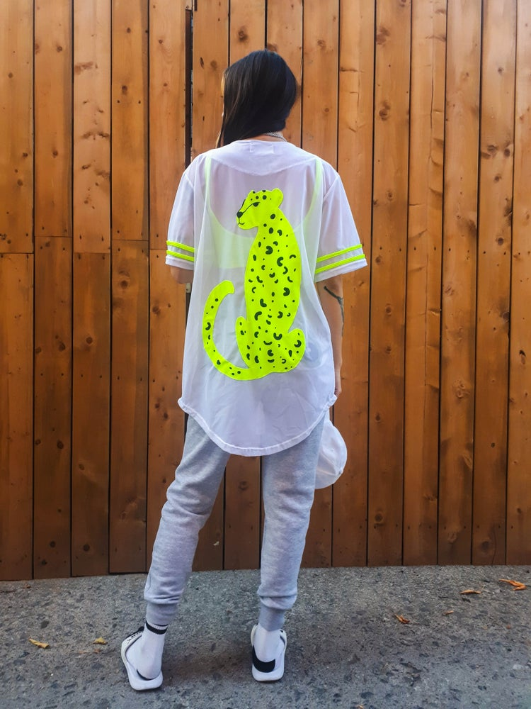 Image of Oversized Mesh Baseball Jersey