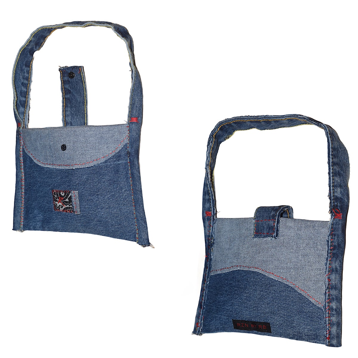 """Image of RZN by RB """"Demi Cher"""" 1/1 denim jean purse"""