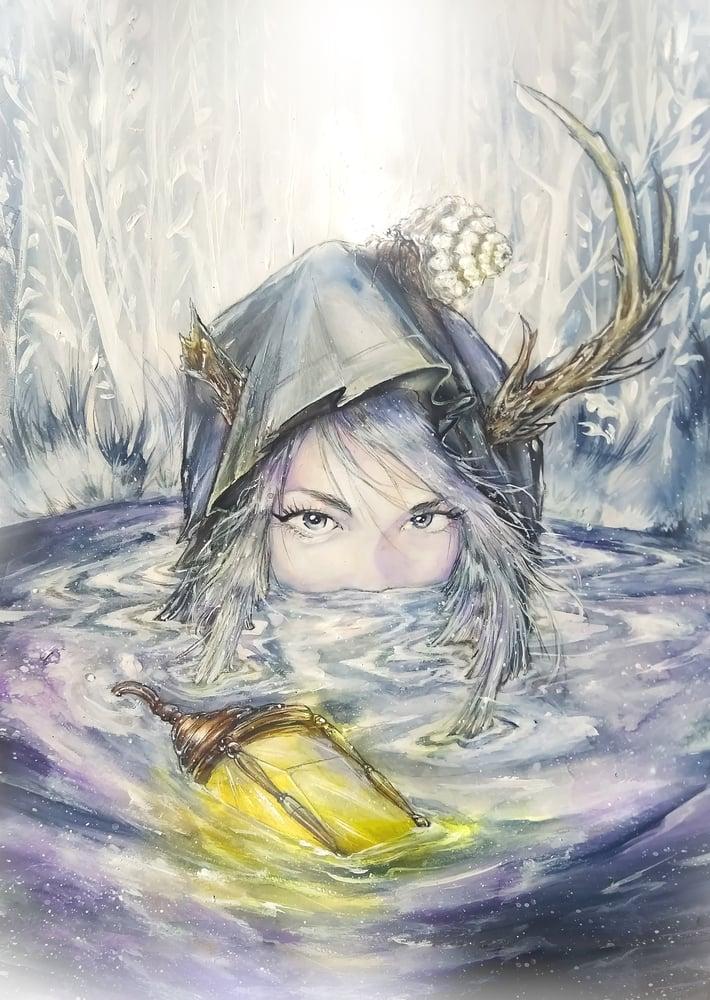 "Image of ""The Hermit"" Original Painting"