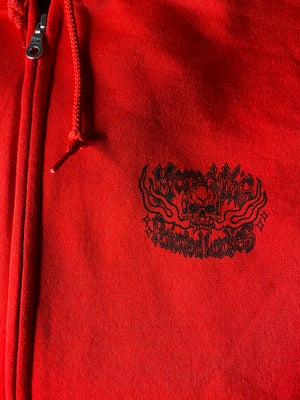 Image of PAINTED LADIES FOREVER ZIP UP IN RED