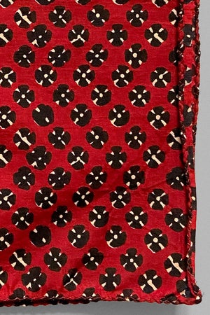 Image of Block Print Bandana - Black/Red Records
