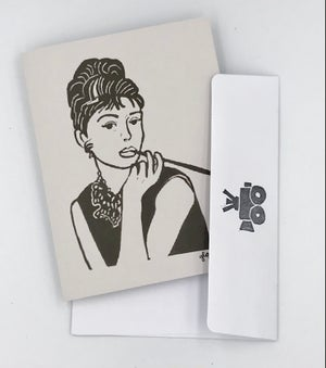 Image of Audrey Hepburn note card