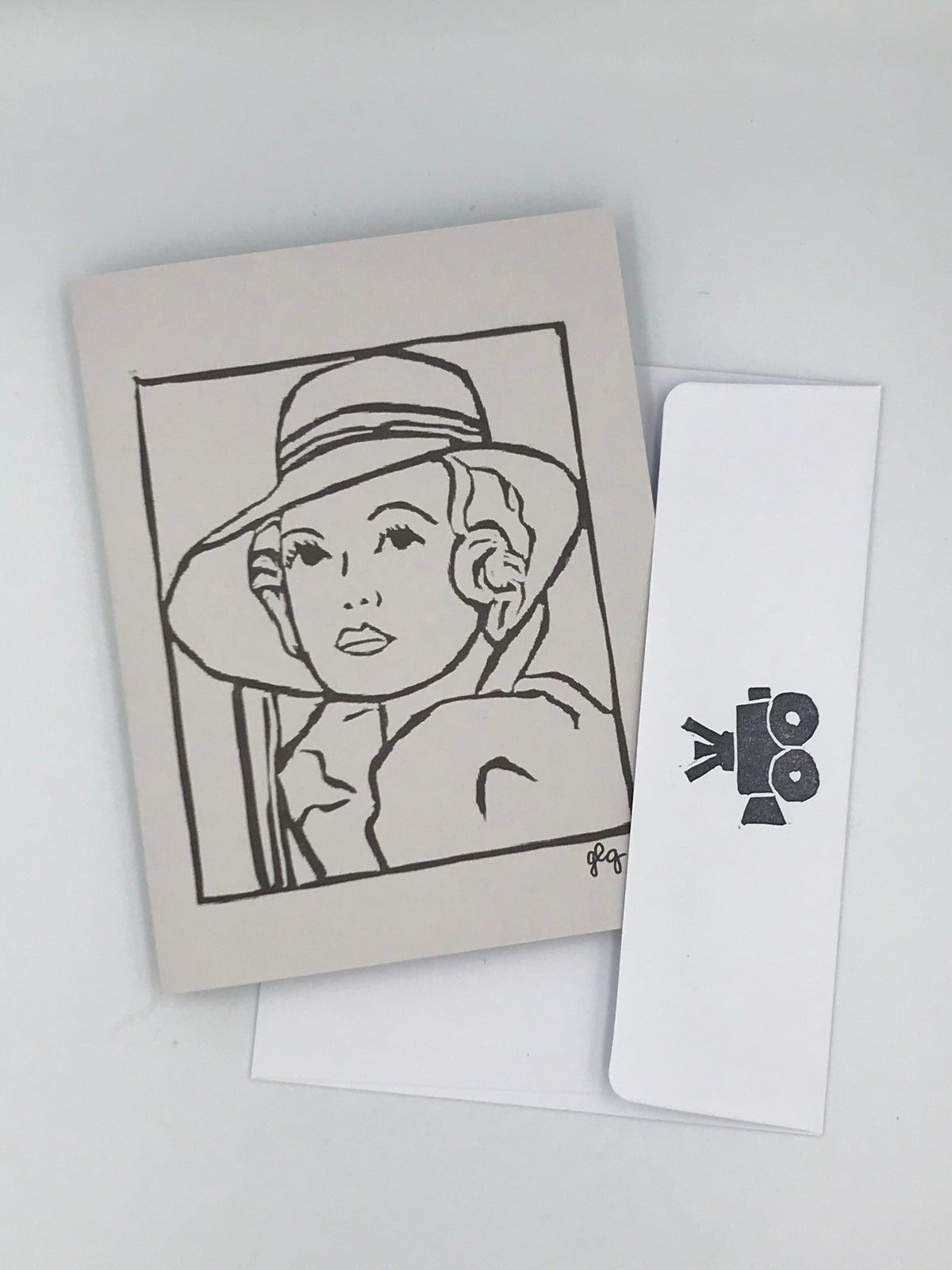 Image of Marion Davies note card