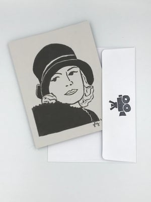 Image of Greta Garbo note card