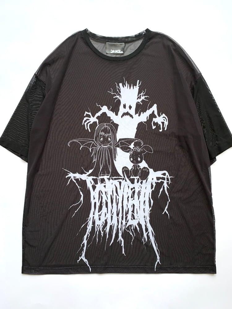 Image of Purgatory /// Torment' oversize mesh tee