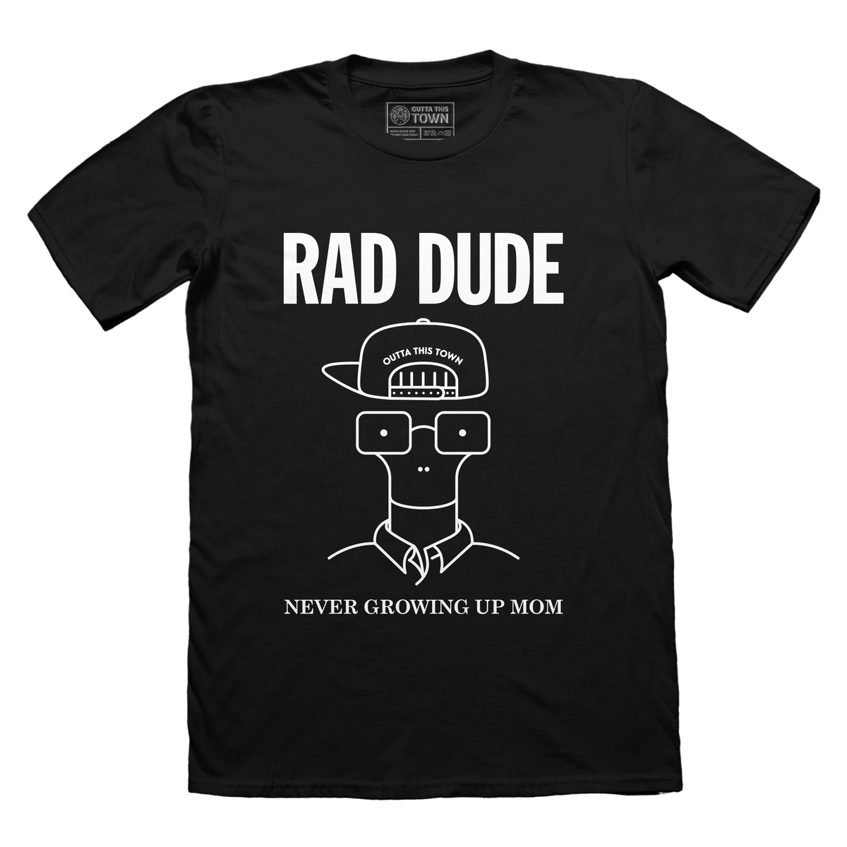 Image of Rad Dude, Never Growing Up Mom T-shirt Black 🤙