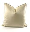 Velvet Throw Pillow (Pearl)