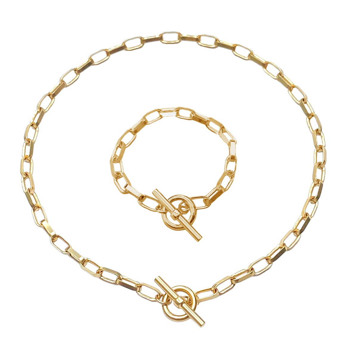 Image of Gold chunky chain set 1