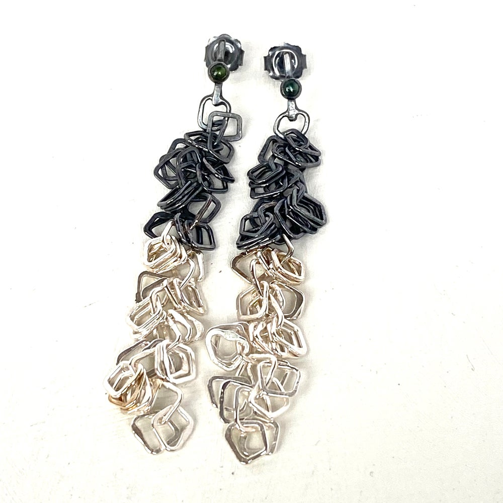Image of Indian summer earrings series 2- two toned/ Tourmaline