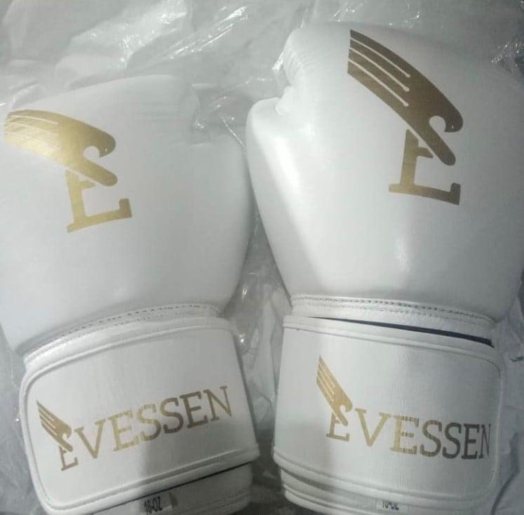 Image of EVSN BOXN White/Gold Boxing Gloves