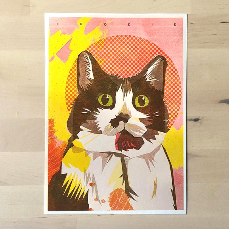 Image of Foodie - Riso print