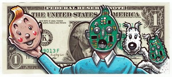 Image of Real Dollar Original. Face Off Tin Tin.