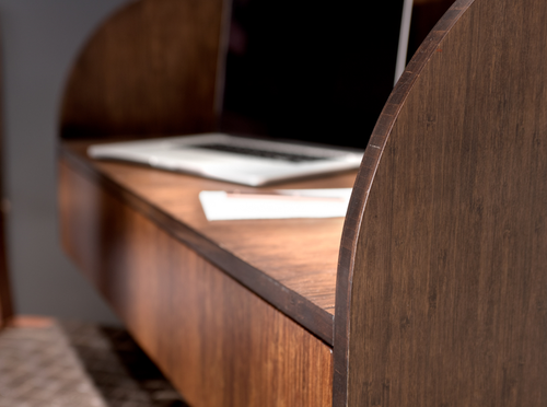 Image of Sagano Hotel - Bamboo wall-mounted desk
