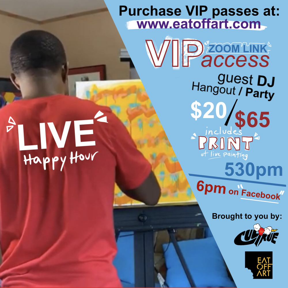 VIP ACCESS MARCH Live Happy Hour 3/26/21