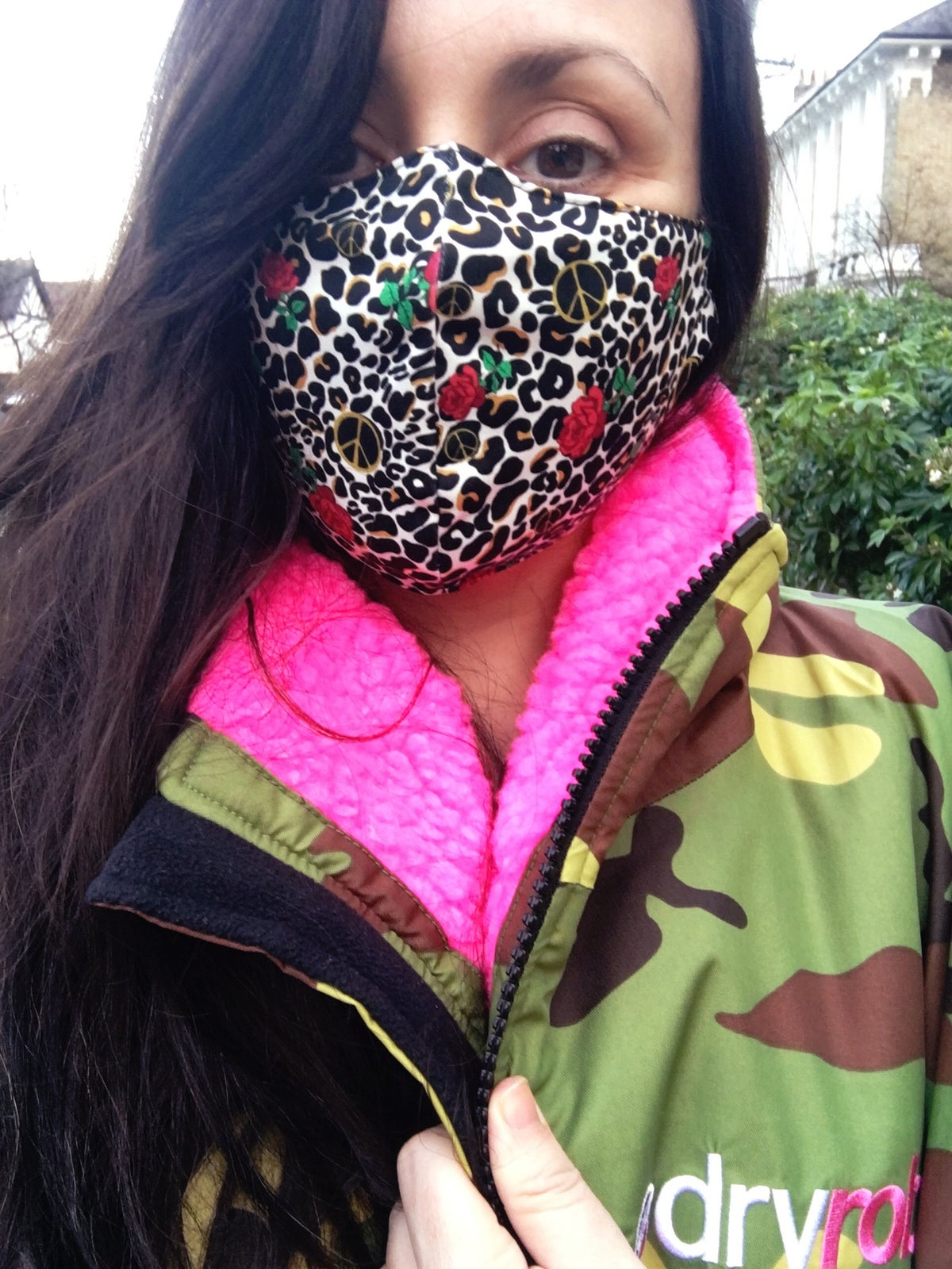 Peace Leopard Face Covering