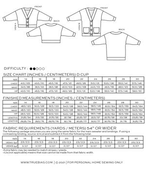 Image of MARLO SWEATER SZ 14-30 (PDF)