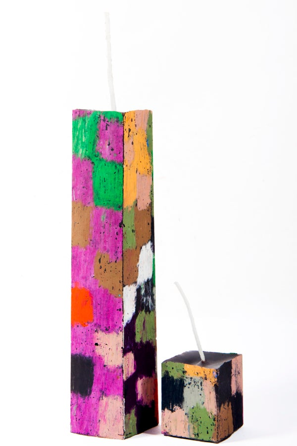 Image of Tall Stack Tower Mother & Child in black, red, brown, green, white, grey, pink, orange, aubergine
