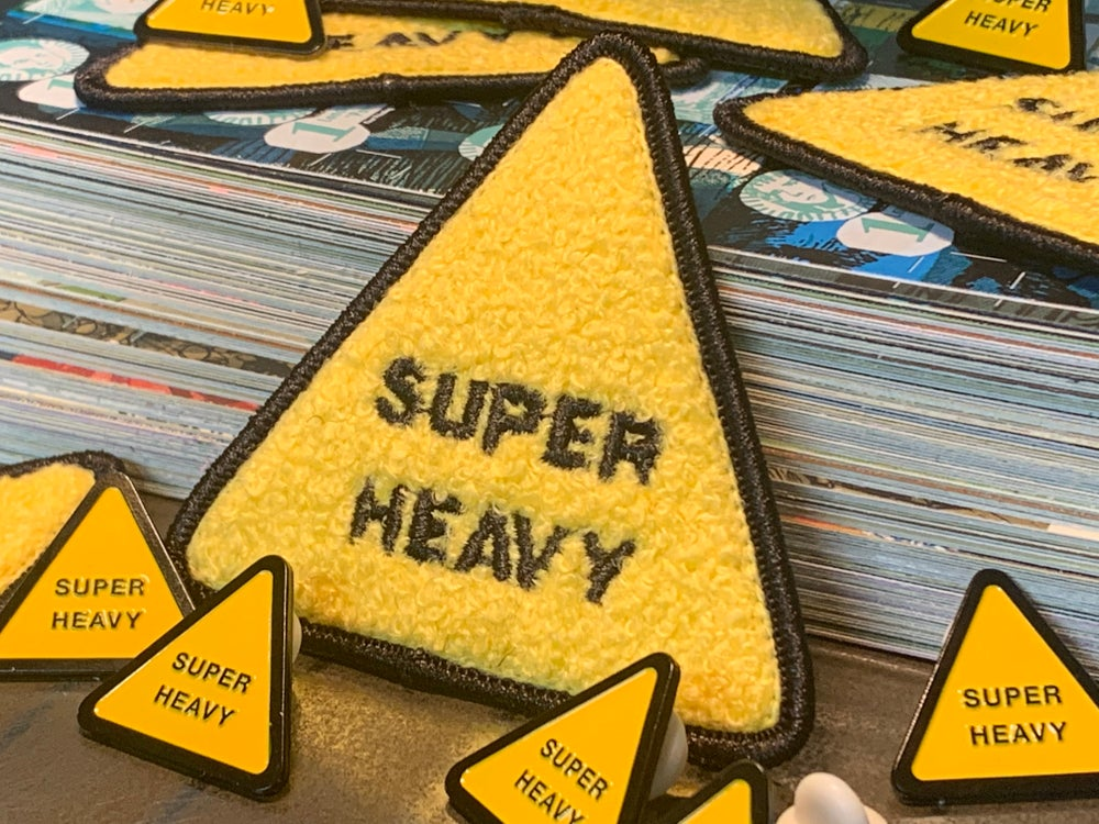 """Super Heavy"" Embroidered Patches & Enamel Pins"