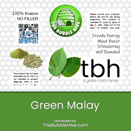 Image of Green Malay Kratom (Powder & Capsules Available)