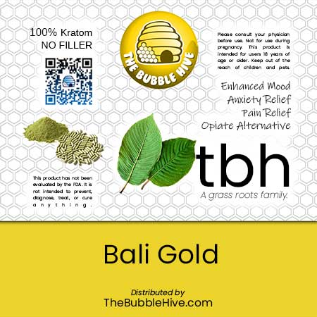 Image of Bali Gold Kratom (Powder & Capsules Available)
