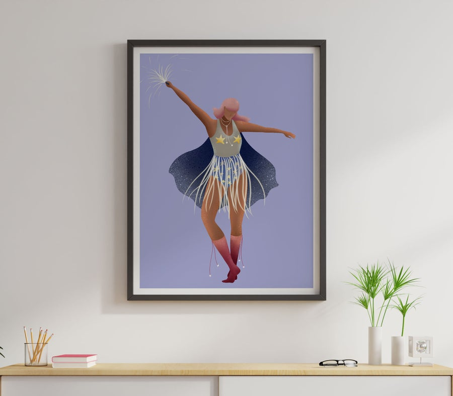 Image of Super woman art print,