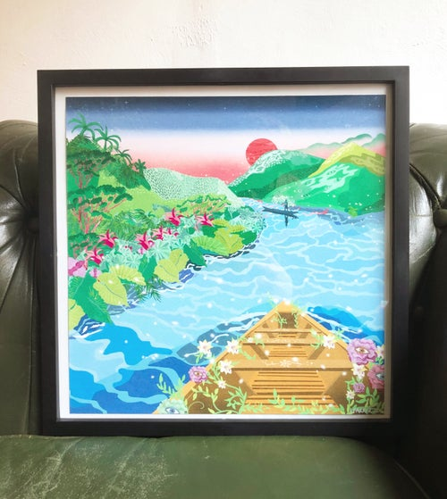 Image of Down the Amazon River Framed Giclèe Print