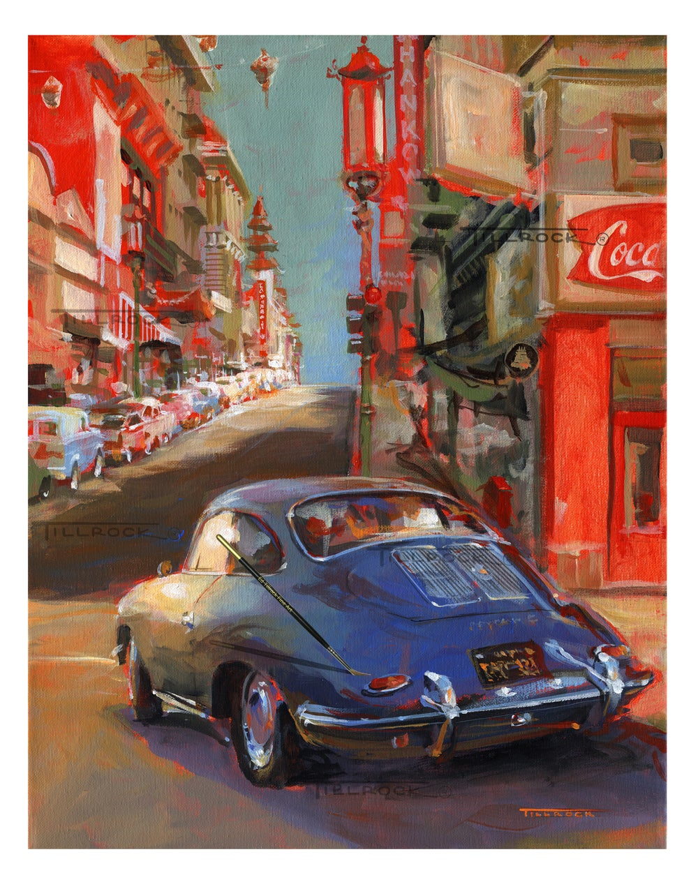 """Image of """"65 356C"""" Porsche Painting (16x20) or (24 x 30) Signed & Numbered Giclee' Prints"""