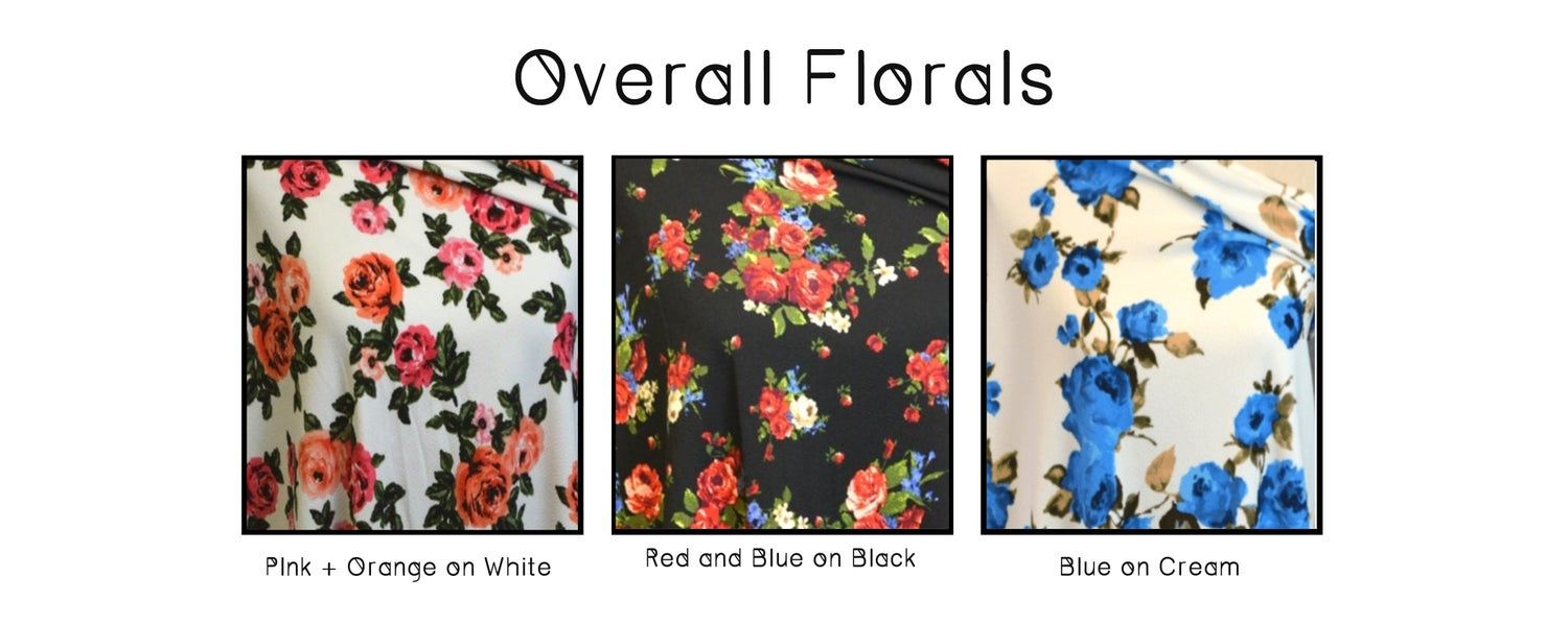 Image of Floral High Waist Overalls