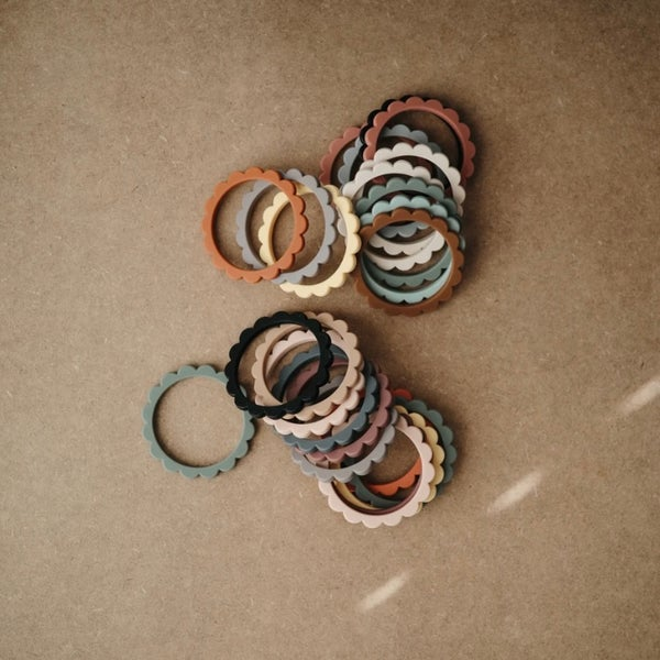 Image of Flower Teething Bracelets (Set of 3)
