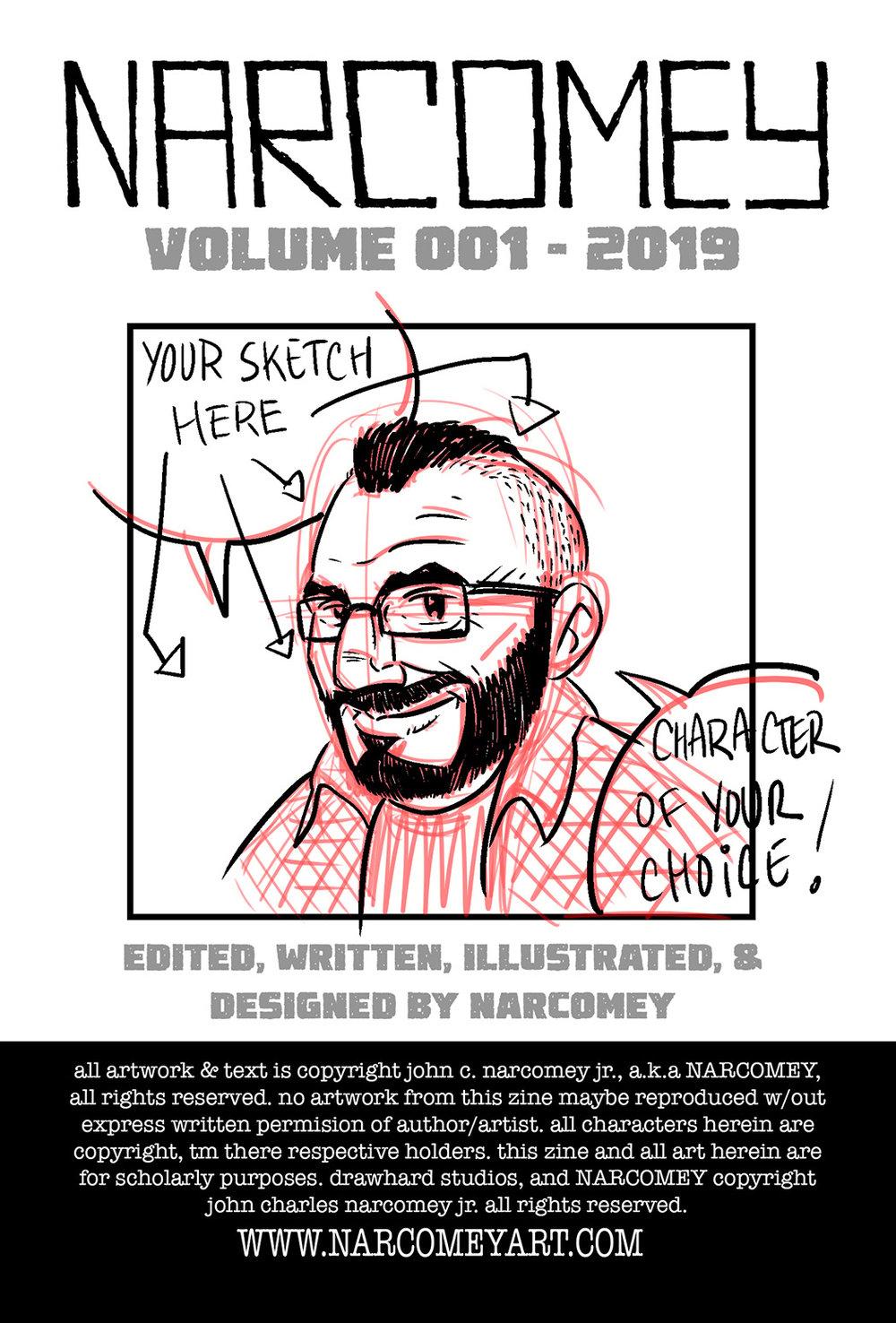 NARCOMEY Zine, Vol 001, Sketch Edition