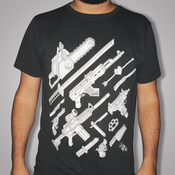 Image of Weapons tshirt (mo75 vs. Dirty Old Town) - Grey