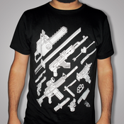 Image of Weapons tshirt (mo75 vs. Dirty Old Town) Black