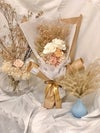 Neutral Preserved Rose with Pampas Grass Bouquet