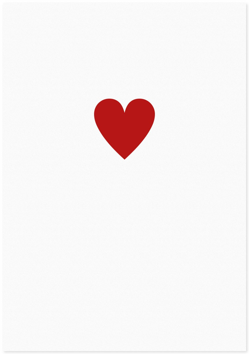 Image of love heart |small red