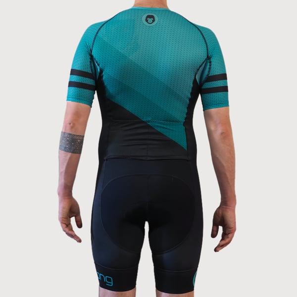 Men's Slice Half Sleeve Trisuit - mekong
