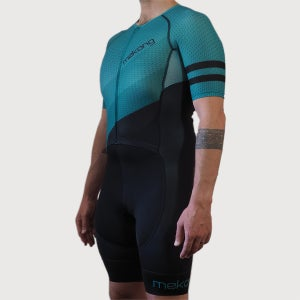 Men's Slice Half Sleeve Trisuit - mekong